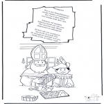 Knutselen Prikkaarten - Sinterklaas Gedicht 2