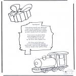 Knutselen Prikkaarten - Sinterklaas Gedicht 4
