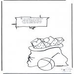 Knutselen Prikkaarten - Sinterklaas Gedicht 7