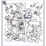 Knutselen Prikkaarten - Sinterklaas kleurplaat 1