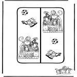 Knutselen Prikkaarten - Sinterklaas knutselen