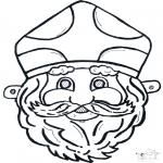 Knutselen Prikkaarten - Sinterklaas masker