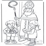Knutselen Prikkaarten - Sinterklaas met kinderen