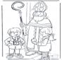 Sinterklaas met kinderen