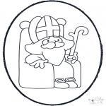 Knutselen prikkaarten - Sinterklaas Prikkaart 4