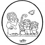 Knutselen Prikkaarten - Sinterklaas Prikkaart 7