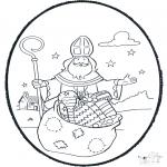 Knutselen Prikkaarten - Sinterklaas prikplaat 1