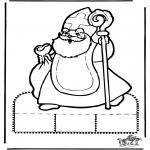 Knutselen Prikkaarten - Sinterklaas Prikplaat 10