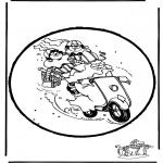 Knutselen Prikkaarten - Sinterklaas Prikplaat 16