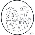 Knutselen Prikkaarten - Sinterklaas Prikplaat 2