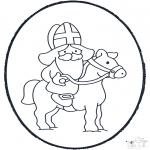 Knutselen Prikkaarten - Sinterklaas Prikplaat 3