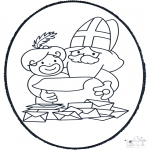Knutselen Prikkaarten - Sinterklaas Prikplaat 6