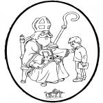 Knutselen Prikkaarten - Sinterklaas Prikplaat 7