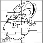 Knutselen Prikkaarten - Sinterklaas Puzzel