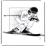 Allerlei Kleurplaten - Skiën 1
