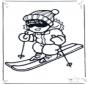 Skiën kleurplaten