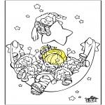 Kinderkleurplaten - Slapen 2