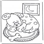 Kleurplaten Dieren - Slapende hond