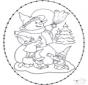 Sneeuwpop borduur