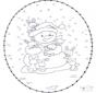 Sneeuwpop borduurkaart