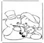 Sneeuwpop met beertje