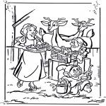 Stripfiguren Kleurplaten - Sneeuwwitje 1