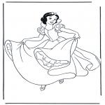 Stripfiguren Kleurplaten - Sneeuwwitje 10