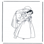 Stripfiguren Kleurplaten - Sneeuwwitje 12