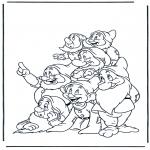 Stripfiguren kleurplaten - Sneeuwwitje 13