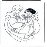 Stripfiguren Kleurplaten - Sneeuwwitje 2