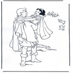 Stripfiguren Kleurplaten - Sneeuwwitje 4