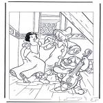 Stripfiguren kleurplaten - sneeuwwitje 6