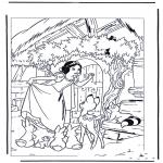 Stripfiguren kleurplaten - sneeuwwitje 7