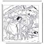 Stripfiguren Kleurplaten - Sneeuwwitje 8