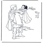 Stripfiguren Kleurplaten - Sneeuwwitje 9