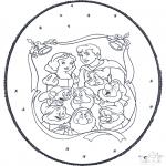 Knutselen prikkaarten - Sneeuwwitje Prikkaart