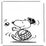 Stripfiguren Kleurplaten - Snoopy 1