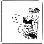 Stripfiguren Kleurplaten - Snoopy 2