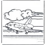 Allerlei Kleurplaten - Space shuttle land