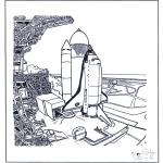 Allerlei Kleurplaten - Space shuttle