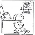 Kinderkleurplaten - Speelgoed kleurplaat 1
