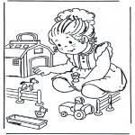 Kinderkleurplaten - Speelgoedboerderij