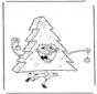 Spongebob als kerstboom