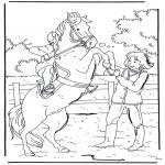 Kleurplaten dieren - Steigerend paard