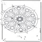 Mandala Kleurplaten - Ster Mandala 1