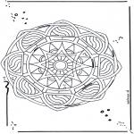 Mandala Kleurplaten - Ster mandala 2