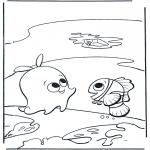 Kinderkleurplaten - Sterre en Nemo