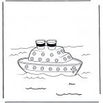 Allerlei Kleurplaten - Stoomboot