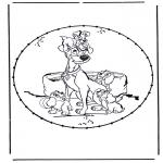 Knutselen Borduurkaarten - Stripfiguur Borduurkaart 1