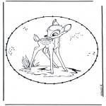 Knutselen Borduurkaarten - Stripfiguur borduurkaart 2